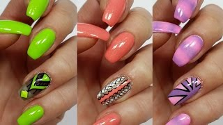 3 Easy Accent Nail Ideas! Freehand #3 (Khrystynas Nail Art)