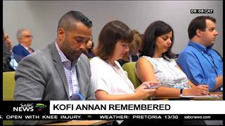 UN to pay tribute to the late former UN Chief Kofi Annan