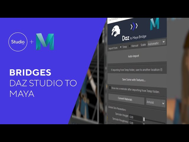Daz Bridges Tutorial - Daz to Maya
