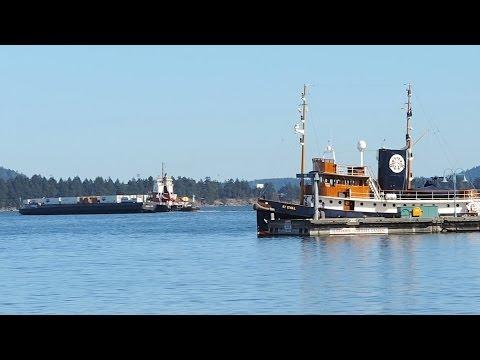 Seaspan Barge And Old Tugboat