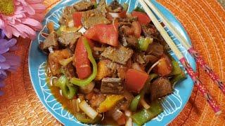 Уйгур иссик салатларидан гоштсей/ Дунганский горячий салат