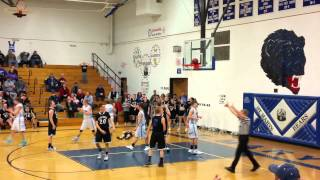 Basketball stuck on rim in final seconds of game