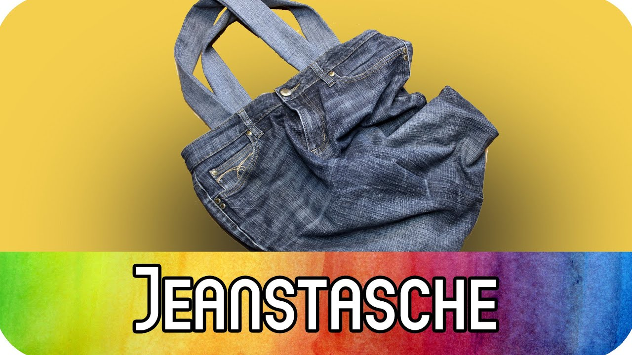 diy upcycling einkaufstasche aus alter jeans n hen jeanstasche n hen kreativbunt youtube. Black Bedroom Furniture Sets. Home Design Ideas