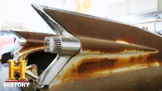 新アメリカン・ビンテージ大修復! - 59年式キャデラック・ボディのソファ 1/4 thumbnail