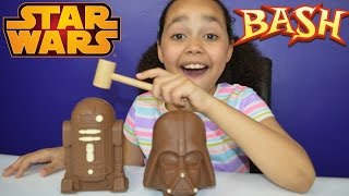 Bashing Star Wars Chocolate Surprise Eggs | Darth Vader | R2D2 | Candy & Sweets | Toy Review