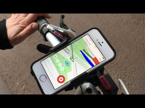 How to use the Bike Hub cycle satnav app