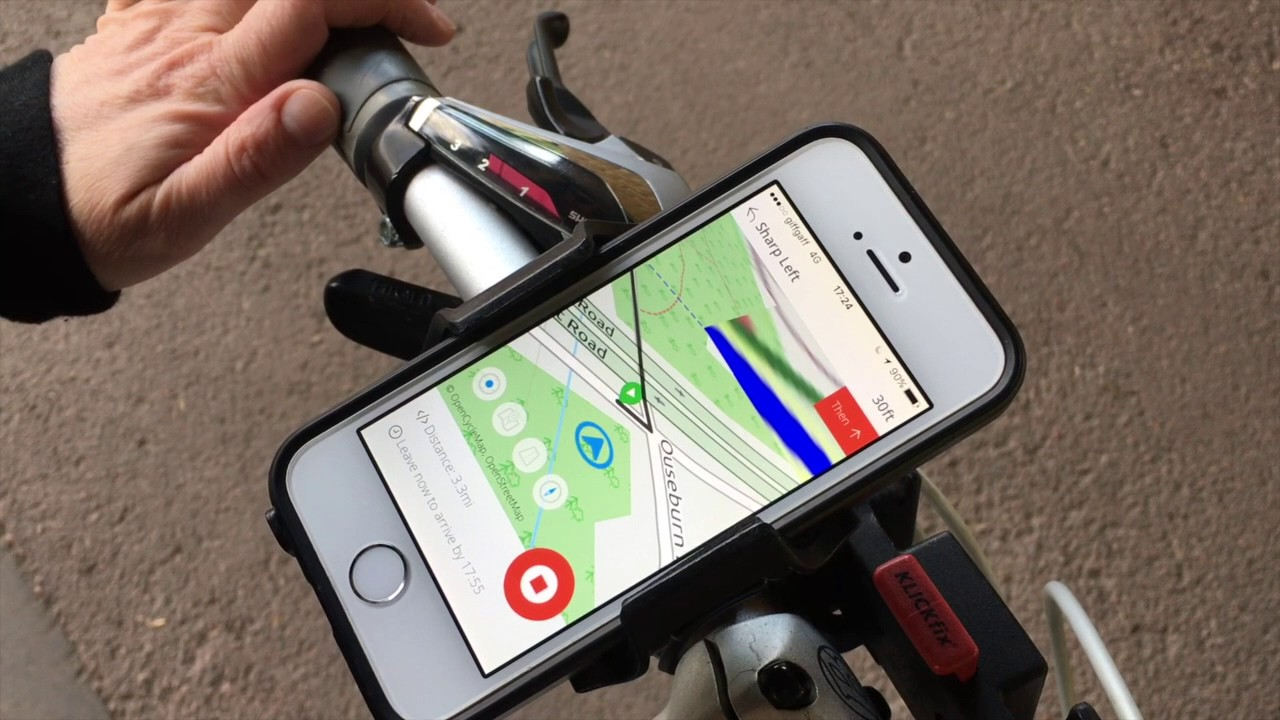How to use the Bike Hub cycle satnav app