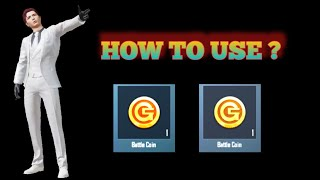 How to use bettle coin in PUBG mobile   How to use Battle coin   Battle coins revard    PUBG MOBILE