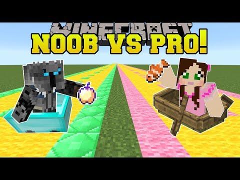 Minecraft: NOOB VS PRO!!! - MARIO KART CRAZY LEVELS! - Mini-Game