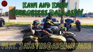 MotoVlog Episode 12 | Kawi and Krew Terrorizes Dallas ft. JaketheGardensnake