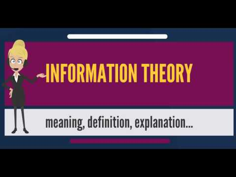 What is INFORMATION THEORY? What does INFORMATION THEORY mean? INFORMATION THEORY meaning