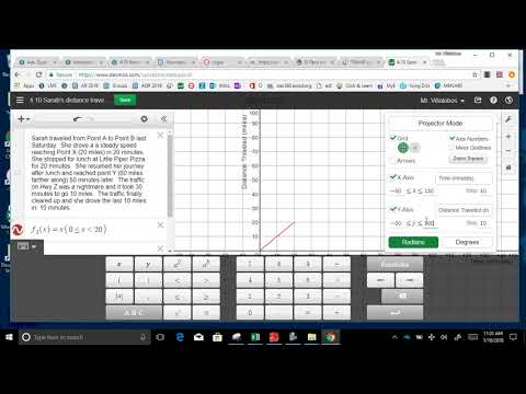 4 10 Sarah graph function  and table distance v  time part 1