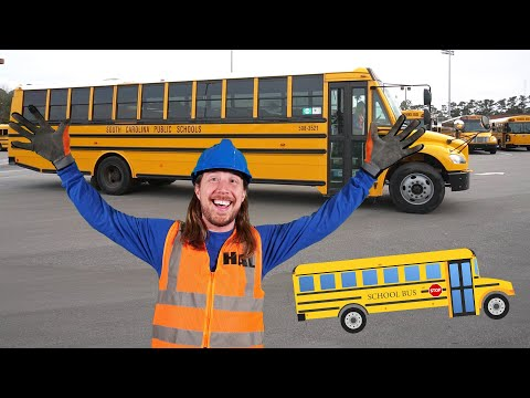 Handyman Hal learns about School Buses | Explore School Bus for Kids
