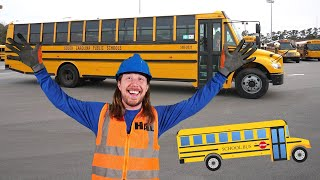 Handyman Hal learns about Schools Buses   Explore School Bus for Kids