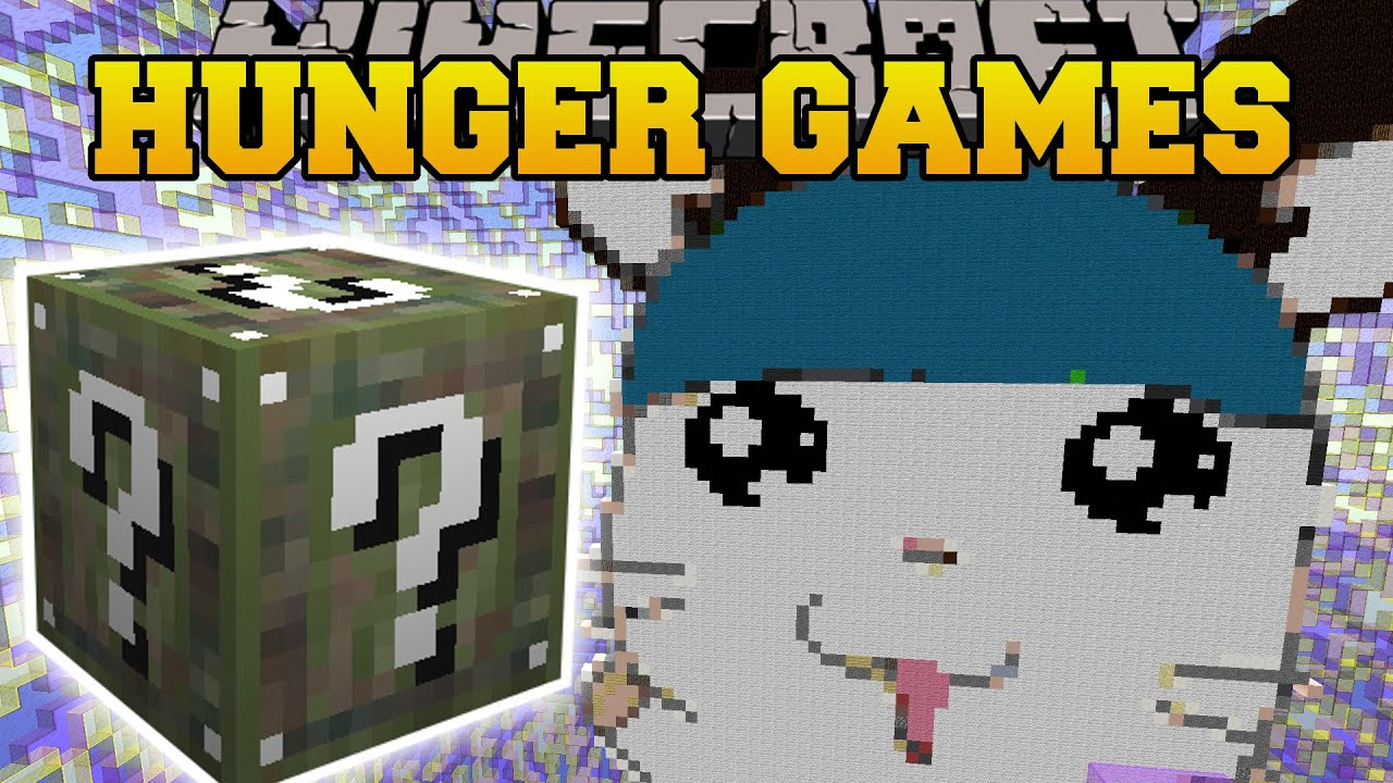 Minecraft GIANT HAMSTER CAGE HUNGER GAMES Lucky Block Mod - Hunger games mapped on us