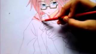 Draw Kagami Junichiro from Denpa Kyoushi