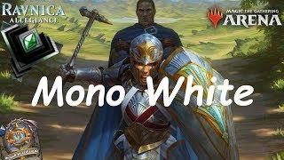 Magic Arena MTGA: Mono White Aggro Deck #4 - Ravnica Allegiance - Standard Contructed