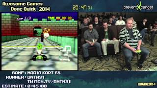 Mario Kart 64 :: 150cc Large Skips Speed Run Live By Dntn31 #agdq 2014