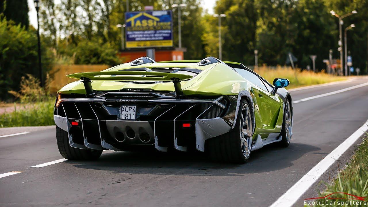 2 3m Lamborghini Centenario Lp770 4 Roadster Driving On The Road