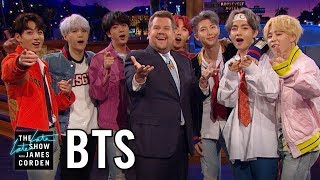 BTS Invades The Late Late Show
