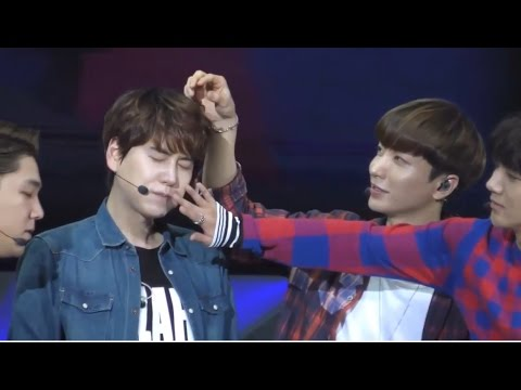 Evil Maknae Kyuhyun being spoiled by his hyungs!