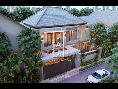 Desain Rumah Tinggal 2 Lantai 239 M2 Bali Modern Bu Ratna Di Jakarta Timur Youtube