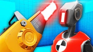 THE FINAL WEAPON vs ARMORED ROBOT DUMMY IN RAGE ROOM VR (Rage Room Virtual Reality Funny Gameplay)