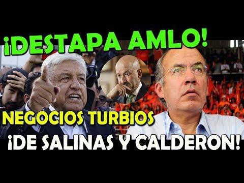 ¡Escandalo! Destapa López Obrador Negocios de Calderón y Salinas - Campechanando