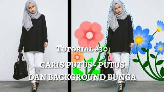 #30 Edit Foto Garis Putus-Putus Dan Background Bunga Ala Selebgram | PicsArt Editing Tutorial