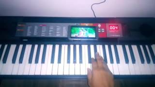 Belageddu kirik party song on keyboard