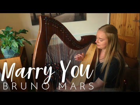 Marry You - Bruno Mars (Harp Cover) Nottingham Wedding Harpist