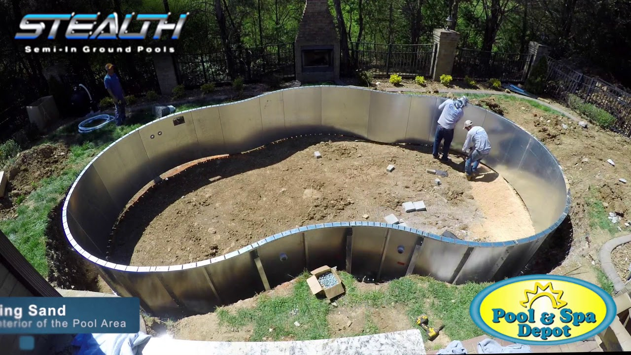 Stealth Semi In Ground Pool Installation Youtube