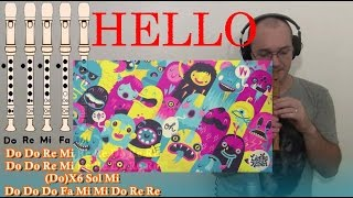 Hello OMFG para Flauta Dulce - Cover con Notas -Tutorial Flute Recorder Notes