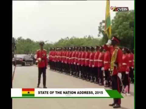 Late Captain Mahama as parade commander at 2015 SOTN address of Guard of Honour