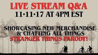 LIVE Q&A - STRANGER THINGS PARODY CHAT