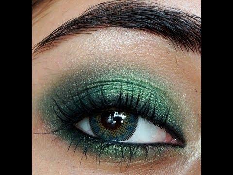 Smokey Emerald Green Eye Makeup Tutorial  corallista