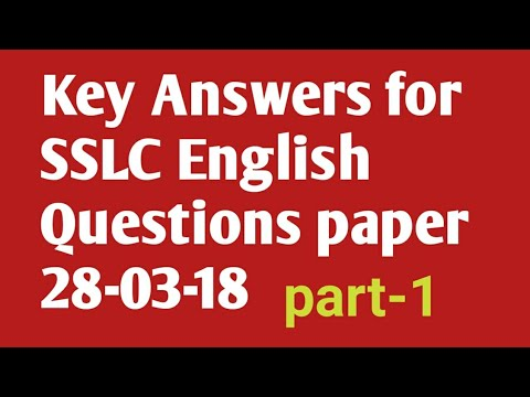 key answers for sslc english question paper 28 03 2018 ಕ