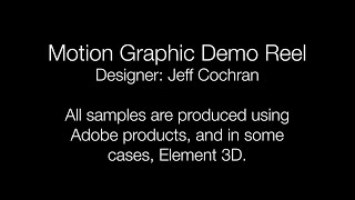 Motion Graphics Demo Reel