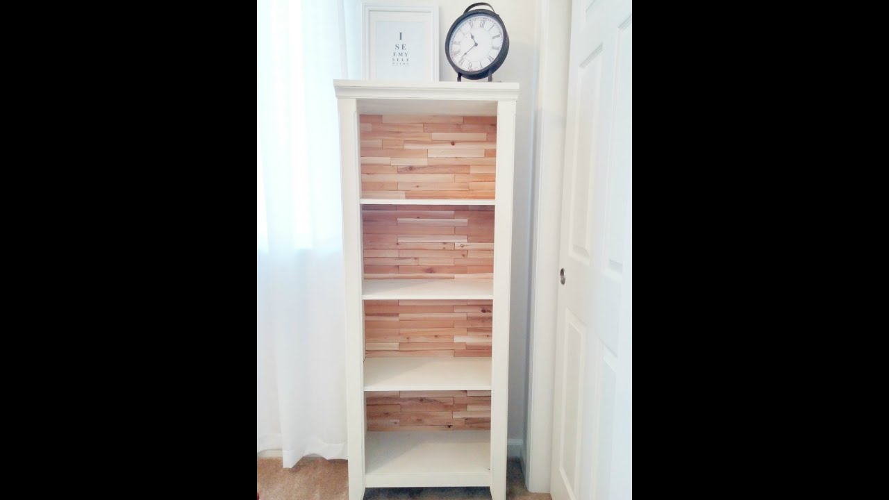 Easy Inexpensive Bookcase Makeover