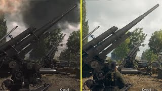 Call of Duty WWII E3 2017 vs PS4 Pro Beta Graphics Comparison