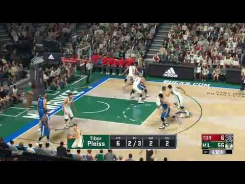 NBA 2K17 TORONTO RAPTORS VS MILWAUKEE BUCKS