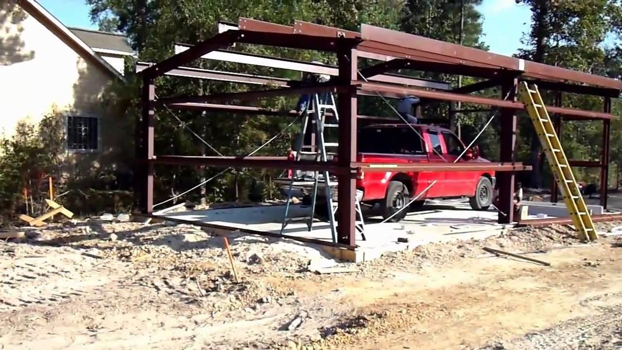 Best Kitchen Gallery: Metal Building Construction For Home Storage Shop Garage of Build Steel Home on rachelxblog.com