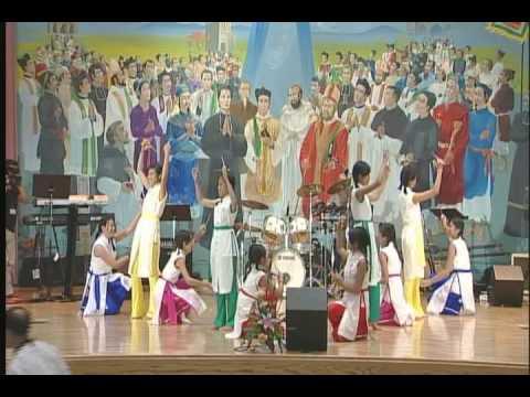 Bai Ngoi Ca Que Huong ~ TNTT Doan Thanh Giuse MN  Chopstick and Hat Dance DHTM, MO 2008