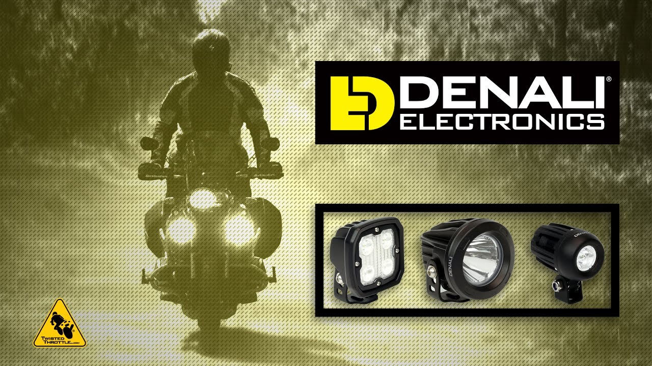 Denali led motorcycle auxiliary lighting from twisted