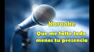 pista karaoke que me falte todo. Zuleyka B. original 2018