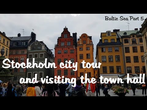 Stockholm - town hall and driving around the city in Sweden