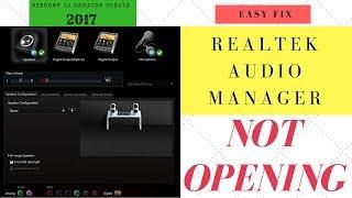 [Fixed] Realtek audio manager not working /opening in windows 10 creator updates -October-2017