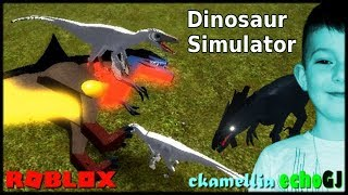 Roar Like A Dinosaur! - Roblox Dinosaur Simulator #2 - playing with echoGJ