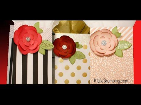 Gift Bag With Handmade Flower