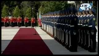 Официальная церемония встречи Президента Франции Франсуа Олланда